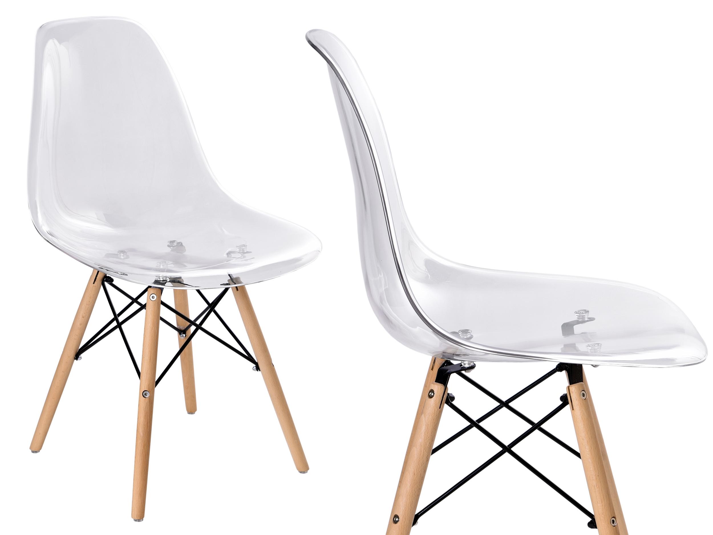 Krzesło skandynawskie DSR styl EIFFEL transparentne A Z MARKET