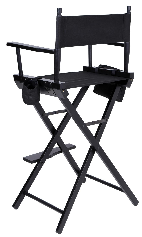 Krzesło reżyserskie do makijażu STEVEN składane czarne A Z